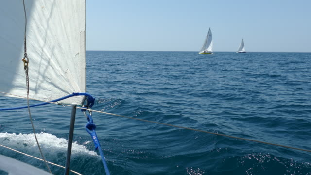 sailing race in the open sea video