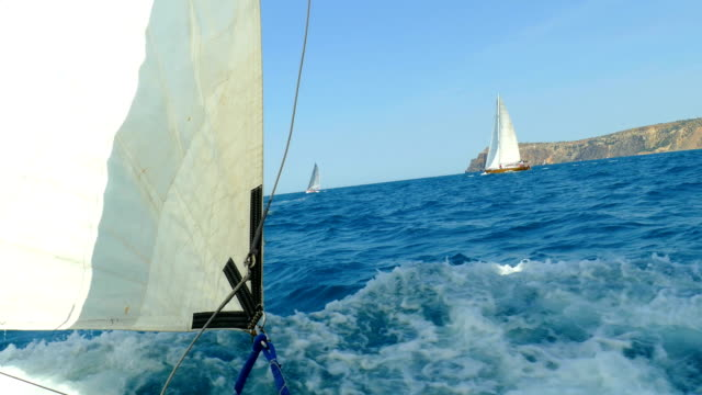 sailing races - andare in barca a vela video stock e b–roll