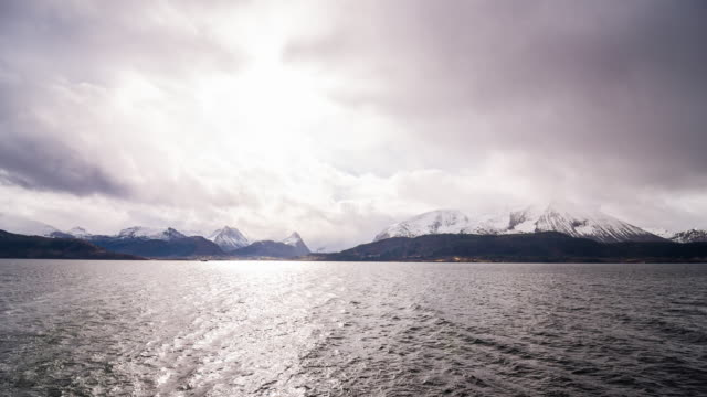 Sailing through the fjords of Norway video