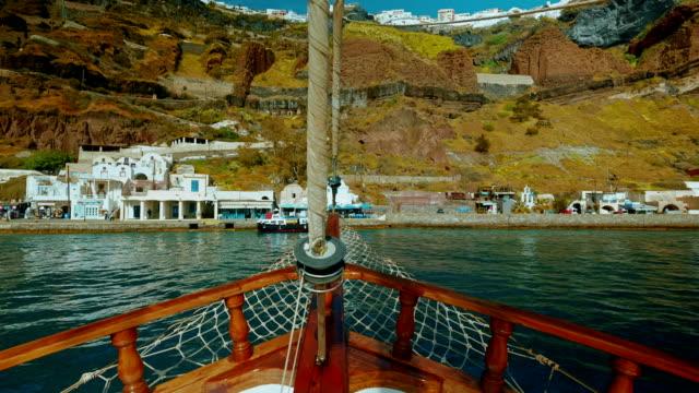 Sailing Through the Mediterranean POV Approaching Land video