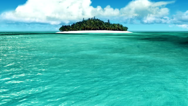 Sailing toward the tropical island video