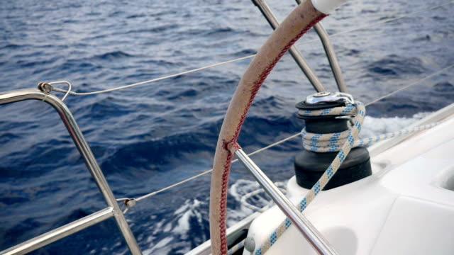 sailing trip in croatia - ster fragment pojazdu filmów i materiałów b-roll