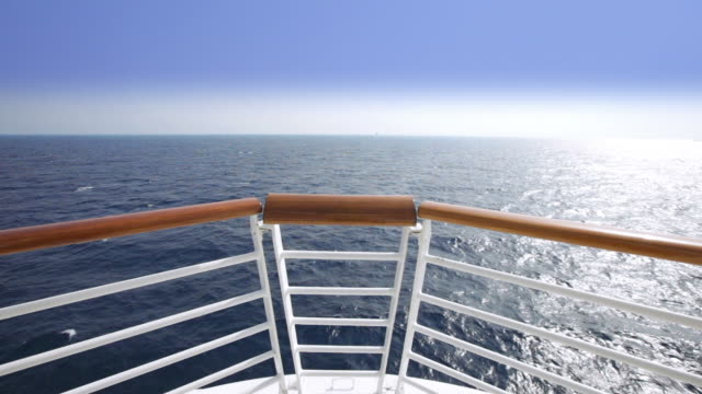 hd sailing view from the bow of a cruise ship - ship stock videos & royalty-free footage