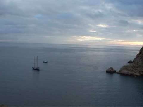 sailing yacht out to sea - port wine stock videos & royalty-free footage