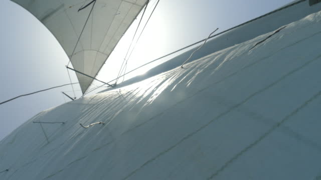 sails filled with wind sun through the sails filled with wind mast sailing stock videos & royalty-free footage