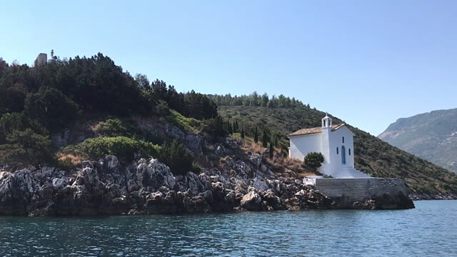 Saint Andrew chapel at Ithaca Greece video