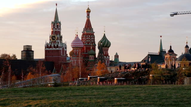 Saint Basil cathedral ( Temple of Basil the Blessed), Red Square, Moscow, Russia video