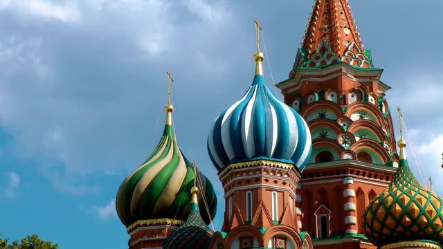 vasilijkatedralen i moskva - basilika katedral bildbanksvideor och videomaterial från bakom kulisserna