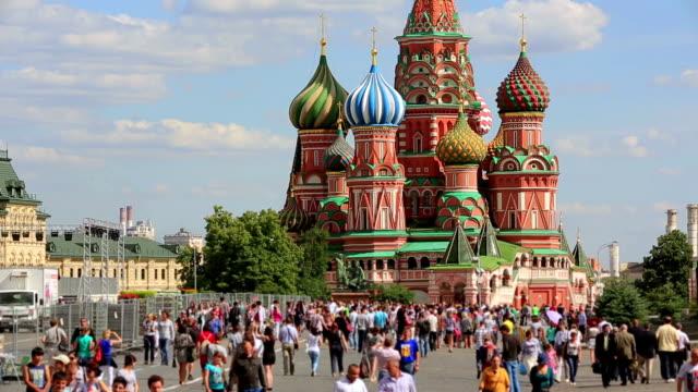 vasilijkatedralen, moskva, ryssland - röda torget bildbanksvideor och videomaterial från bakom kulisserna