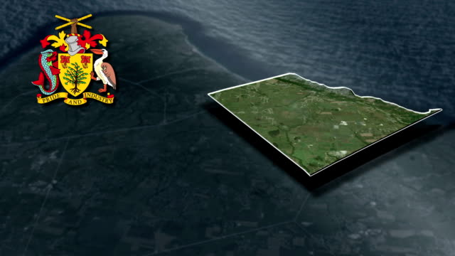 Saint John With Coat Of Arms Animation Map video