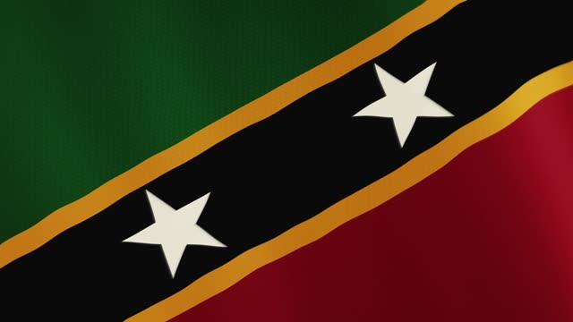 Saint Kitts and Nevis flag waving animation. Full Screen. Symbol of the country video