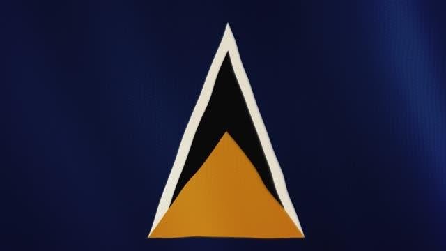 saint lucia flagga vajande animation. helskärm. symbol för landet - lucia bildbanksvideor och videomaterial från bakom kulisserna