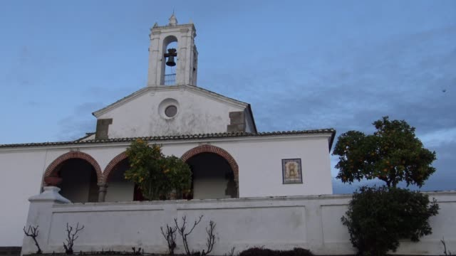 4k saint maria de los remedios shrine, sanctuary of jerez de los caballeros - jesus christ filmów i materiałów b-roll