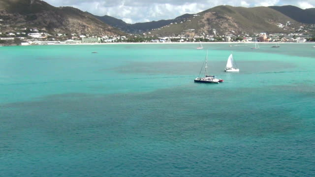 san martino nei caraibi - philipsburg saint martin olandese video stock e b–roll