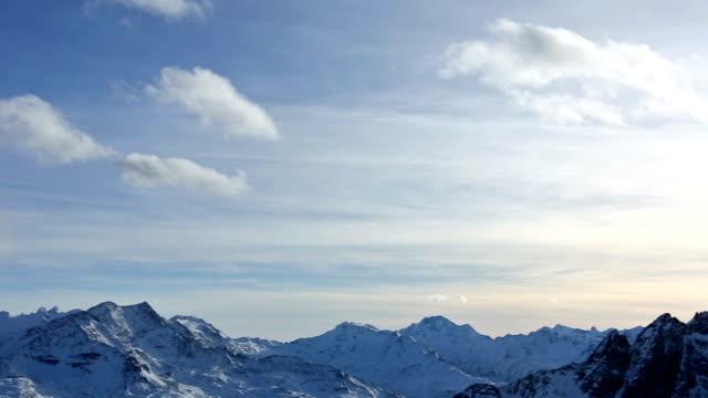 Saint Moritz Alps at Sunset Panning to Left video