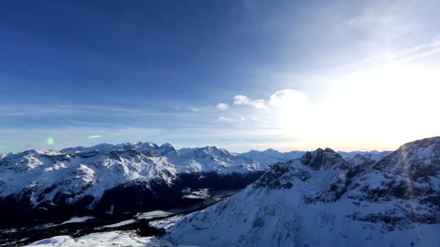 Saint Moritz Alps at Sunset Time Lapse video