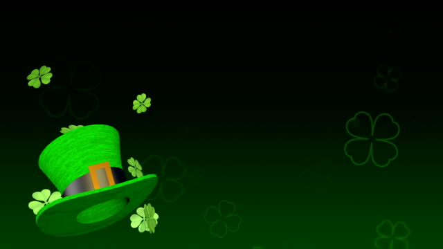 stockvideo's en b-roll-footage met saint patrick's day animatie - klavertje vier