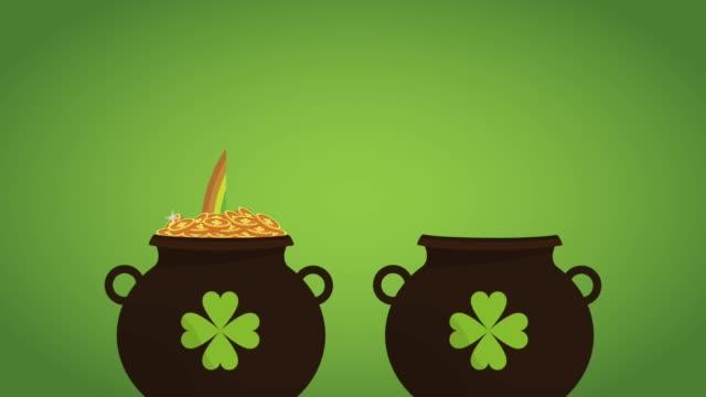 vidéos et rushes de saint animation de hd patricks jour carte - bonne chance