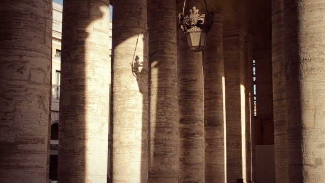 Saint Peter Colonnade in Vatican, Rome video