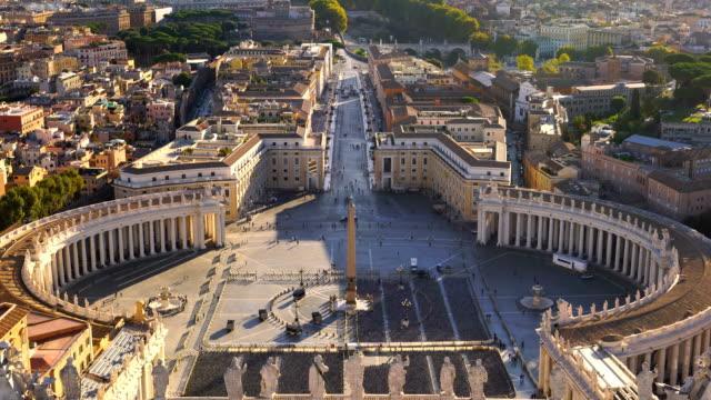 saint peter's meydanı vatikan, roma ' - vatikan şehir devleti stok videoları ve detay görüntü çekimi