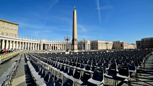 Saint Peters square on a clear day, Vatican City video