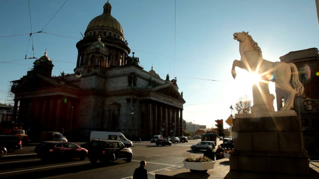 saint petersburg landmarks - isakskatedralen bildbanksvideor och videomaterial från bakom kulisserna