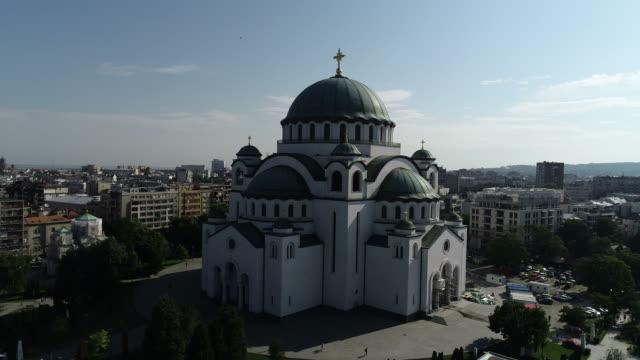aziz sava tapınağı belgrad - sırbistan stok videoları ve detay görüntü çekimi
