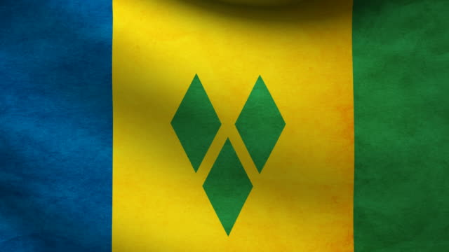 saint vicent and the grenadines flag. - kingstown video stock e b–roll