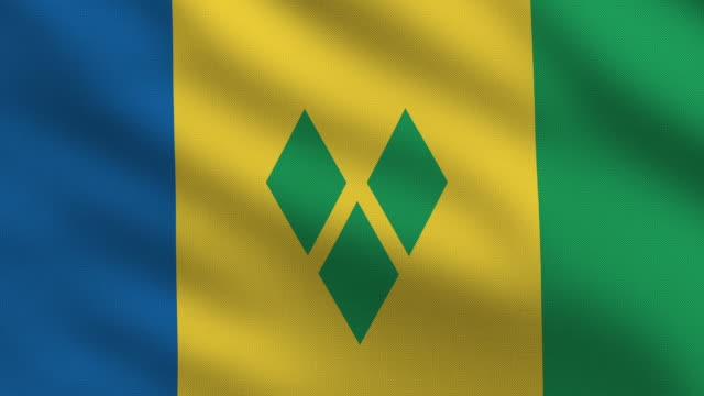 saint vincent and the grenadines flag - kingstown video stock e b–roll