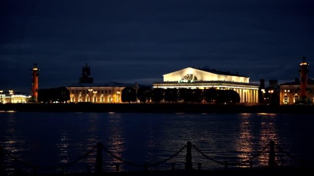 Saint-Petersburg city at night video