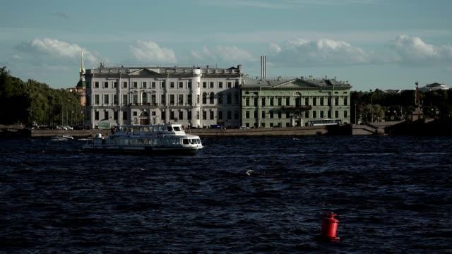 Saint-Petersburg view on river Neva video