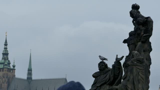 Saints Statues on Charles Bridge video