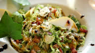 istock Salad serving with fruit and vegetable ingredients and roquefort cheese on top 1287409852