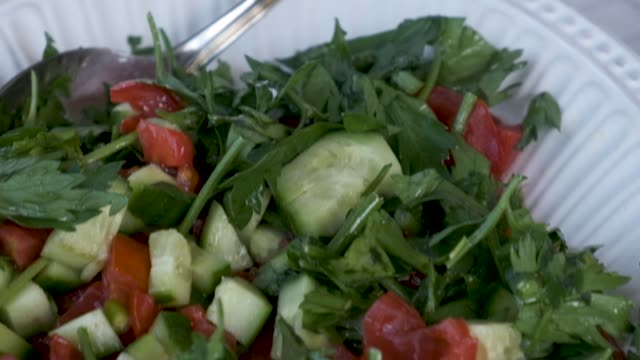 Salad  View On the Breakfast Table