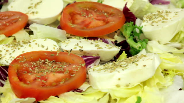 Salad with mozzarella video