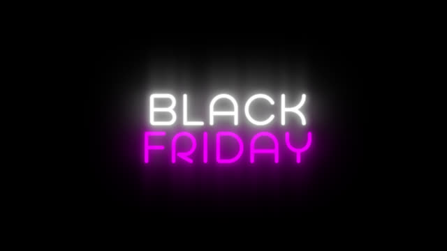 vídeos de stock e filmes b-roll de sale banner in night club bar blinking neon sign style. motion animation. video available in 4k fullhd and hd render footage - black friday