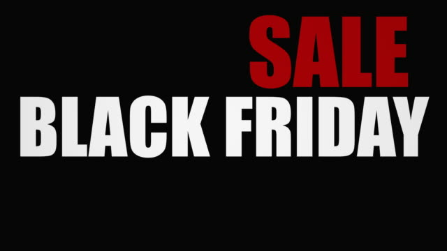 Sale Black Friday Text video