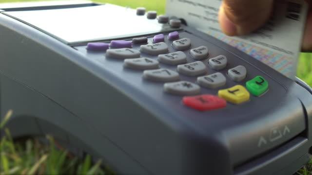 Sale, consumerism: Credit card payment