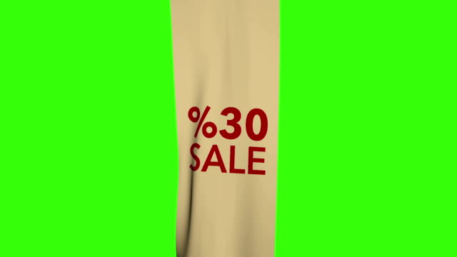 Sale Flag - green background