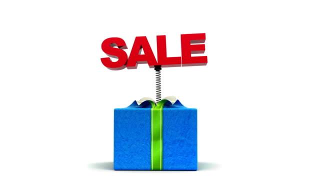 sale out of the box! holiday gift. - sale stok videoları ve detay görüntü çekimi