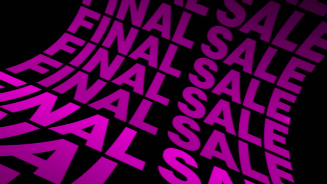 vídeos de stock, filmes e b-roll de sale promo campaign animation advertisement banner. campanha criativa de promoção de vendas. pink sale background typography animation. - liquidação evento comercial