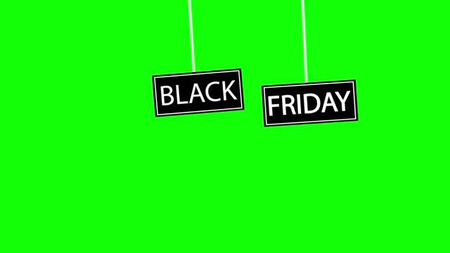 wyprzedaż specjalna oferta na czarny piątek. animacja wektorowa dla ofert i wyprzedaży w czarny piątek. - black friday filmów i materiałów b-roll