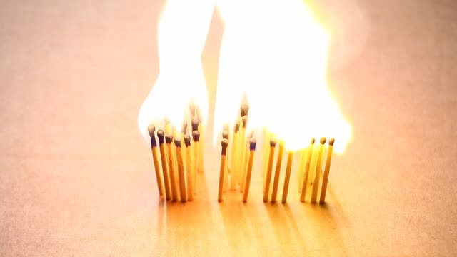 sale text fire flame matches hd footage paper box background