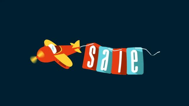 vídeos de stock, filmes e b-roll de sale vídeo 3d - tag
