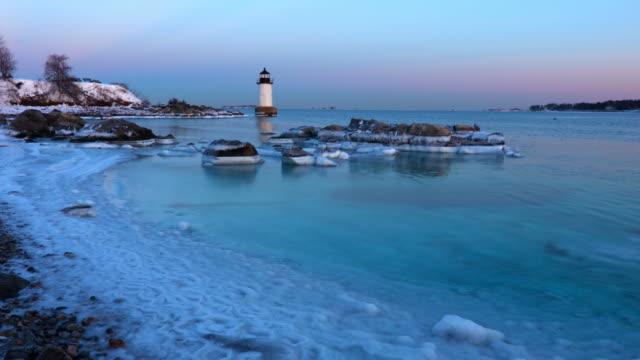 Salem's Fort Pickering Light in Winter