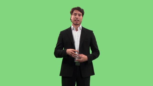 vídeos de stock, filmes e b-roll de hd: vendedor - discurso