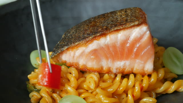 salmon and pasta video