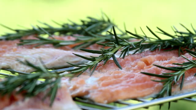 salmon and rosemary video
