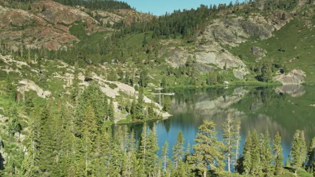 Salmon Lakes in the California Sierra Nevada - Aerial View