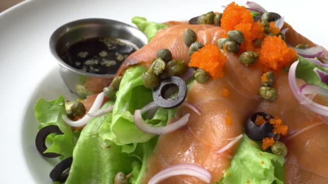 Salmon salad video